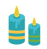 Candles icon. Candles flat style. Candle isolated on white background. Candle logo. Vector illustration.  Stock Photos