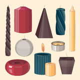 Candles icon set. Colorful Candles icon set. Vector illustration, EPS 10 Stock Image