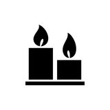 Candles icon simple flat style vector illustration Royalty Free Stock Photography