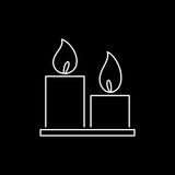 Candles icon simple flat style vector illustration Stock Images