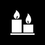 Candles icon simple flat style vector illustration Royalty Free Stock Images