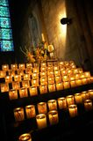 Candles In Notre Dame Stock Photo