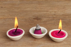 Candles and incense Stock Photo