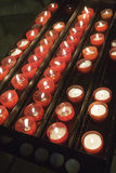Candles inside church Royalty Free Stock Image