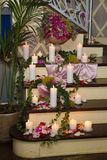 Candles on ladder Stock Image