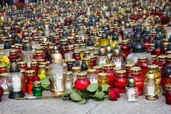 Candles and lanterns lit Royalty Free Stock Photos