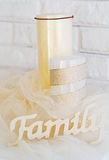 Candles and letters decor Stock Image