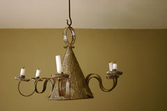 Candles light. In old house Royalty Free Stock Photo