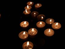 Candles light. Several candles light royalty free stock photo