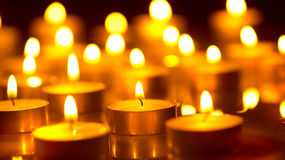 Candles light background Royalty Free Stock Images