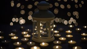 Candles light with bokeh. Background stock footage