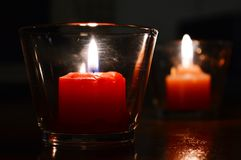 Candles light. Candle lighting the darkness in the house Royalty Free Stock Photography