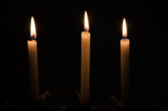 Candles. Light of candles in the dark Royalty Free Stock Images
