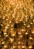 Candles at the Light Festival in Leipzig, Germany Stock Images