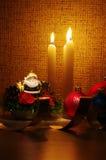 candles light santa Στοκ φωτογραφία με δικαίωμα ελεύθερης χρήσης