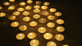 Candles lights background stock video