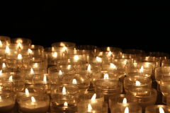 Candles lights. Church candles. Candles lights in church somewhere in Italy Royalty Free Stock Images
