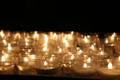 Candles lights. Church candles. Candles lights in church somewhere in Italy royalty free stock photo