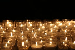 Candles lights. Church candles. Candles lights in church somewhere in Italy royalty free stock photography