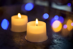 Candles and lights Stock Image
