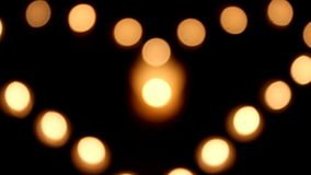 Candles Lights - Love Heart stock video footage