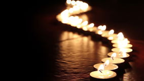 Candles line Stock Image