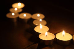 Candles lines Royalty Free Stock Image