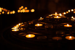 Candles in Notre Dame Stock Photography