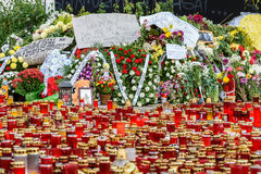Candles Lit In Memory Of The 32 Dead People And 150 Wounded In The Fire At Club Colectiv Royalty Free Stock Photo