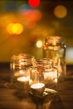 Candles lit Stock Images