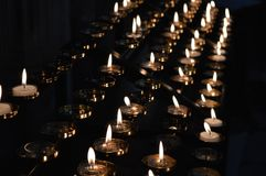 Candles Lit In Remembrance Royalty Free Stock Photo