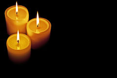 Candles lit royalty free stock photos