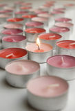 Candles of love Stock Image