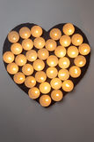 Candles love heart Stock Photo
