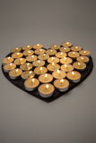 Candles love heart Stock Images