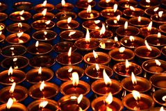 The candles of meditation Royalty Free Stock Photography