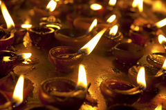 Candles at Meenakshi hindu temple Stock Photos