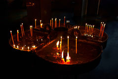 Candles in memory Stock Photography