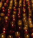 Candles in memory about died. In a cathedral of Marseilles Stock Image