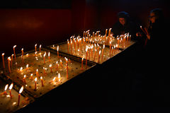Candles in memory Royalty Free Stock Photography