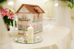 Candles on Mirror Royalty Free Stock Photography