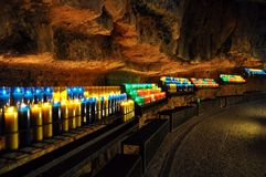 Candles on the mountain of Montserrat Royalty Free Stock Photo