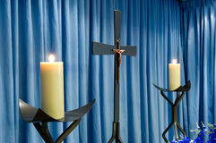 Candles in mortuary royalty free stock images