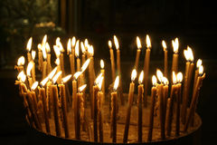 Candles Nativity Church,israel Royalty Free Stock Image