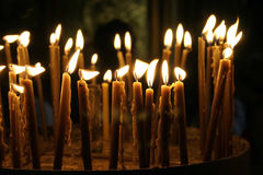 Candles nativity church,israel Stock Photos