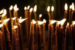 Candles nativity church,israel Stock Photos