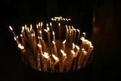 Candles nativity church,israel Royalty Free Stock Photography