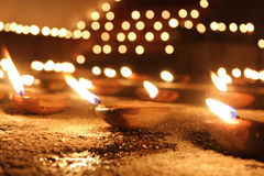 Holy candles in the night Royalty Free Stock Images