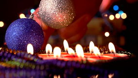 Candles New Year stock footage