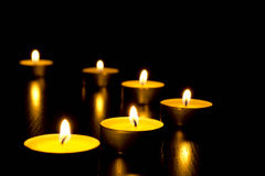 Candles in the night Stock Photography